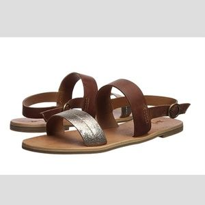 NEW! Frye Ally 2 Band Bronze Sling Sandals